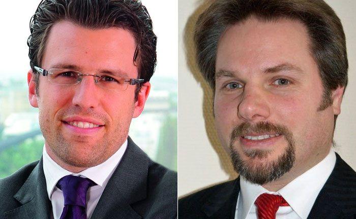 Christian Funke, Vorstand bei Source for Alpha und Wolfgang Zillich, Gründer von Premium Asset Management