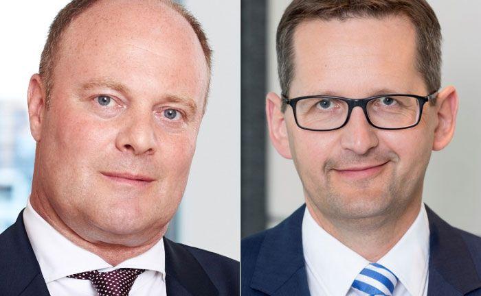 Niederlassungsleiter Jörg Kaden (l.) und Jörg Stotz, Geschäftsführer des Bereiches Service-KVG Finanzielle Vermögenswerte der Hansainvest