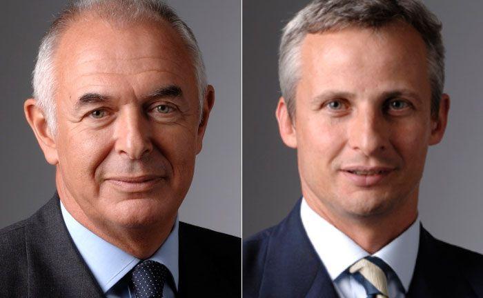 Bernard Sabrier (l.), Verwaltungsratspräsident von Unigestion und der Leiter Private Equity Christophe de Dardel