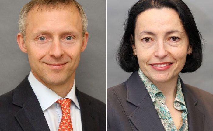 Portfoliomanager Barnaby Wiener (l.) und Lina Medeiros, Präsidentin von MFS International