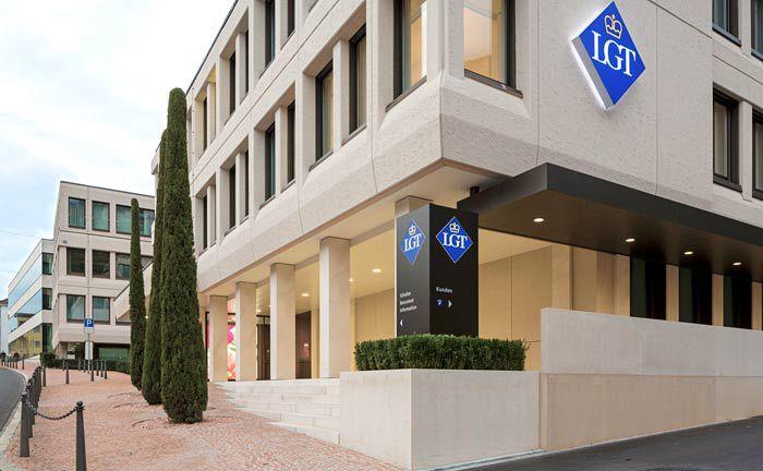 Hauptsitz der LGT Bank in Vaduz im Fürstentum Lichtenstein