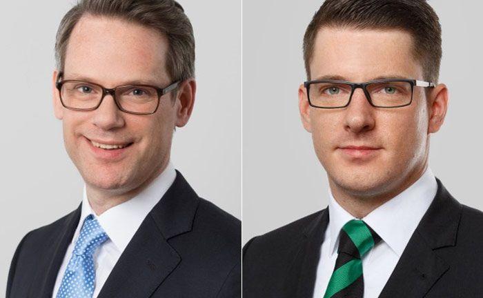 Claus Jochimsen-von Gfug (l.) und Tim Zinowsky von der Wirtschaftskanzlei DLA Piper