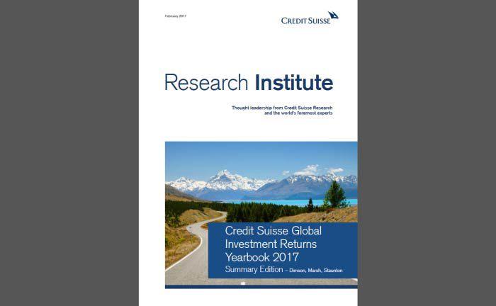Betrachtet einen Zeitraum von 117 Jahren: Das Credit Suisse Global Investment Returns Yearbook 2017