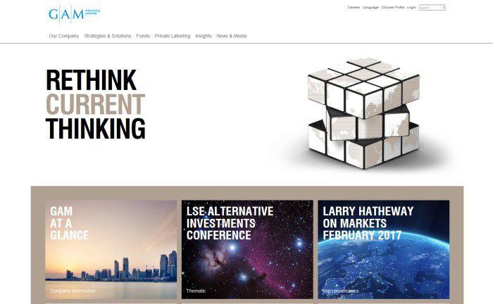 Screenshot der GAM-Homepage
