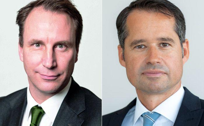 Robert Schlichting (l.) ehemaliger Leiter des institutionellen Geschäftes der Deutschen AM und sein Nachfolger Sven Simonis