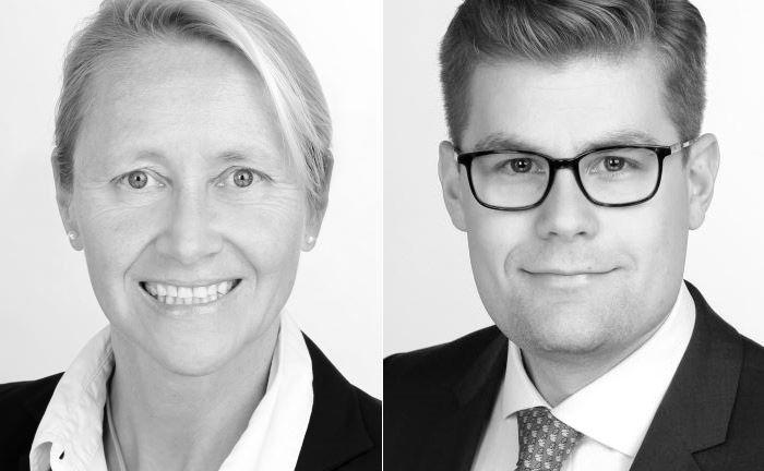 Irit Will (l.), Leiterin Produkte Gewerbliches Eigentum bei Hiscox Deutschland und Ole Sieverding, Hiscox' Produktleiter Cyber- und Datenrisiken