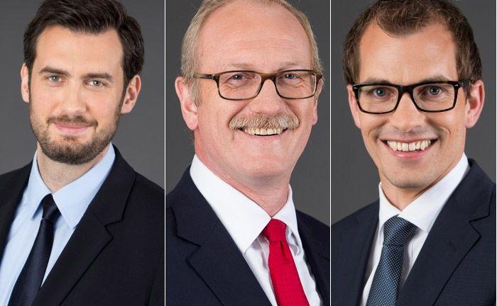 Die Führungsmannschaft von Lingohr & Partner: Investmentchef Goran Vasiljevic (v.l.n.r.), der Sprecher der Geschäftsführung Michael Broszeit und der operative Leiter Steffen Ulshöfer.