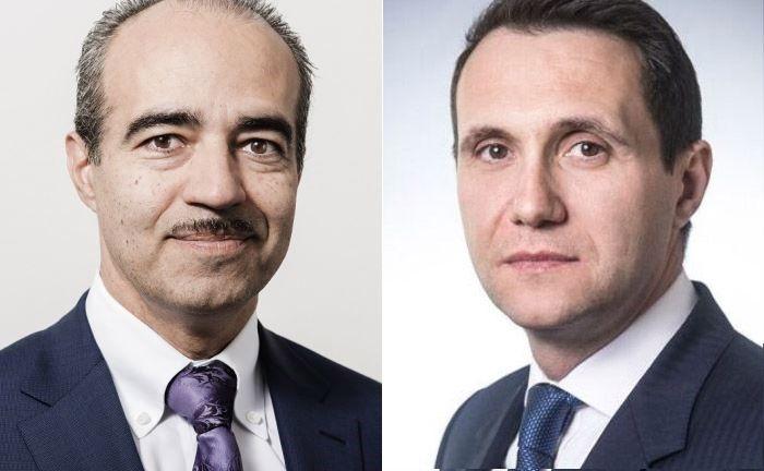 Francisco Fernandez (l.), Gründer und Geschäftsführer von Avaloq und Daniel Zilberman, Leiter Europa bei Warburg Pincus.