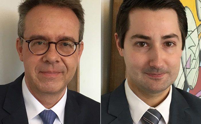 Haben sich mit der Pilgerrain Vermögenstreuhand selbstständig gemacht: Ralph Haydu (l.) und Oliver Bösen