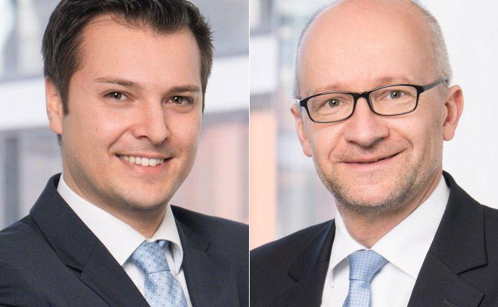 Begleiten vor allem Finanzdienstleister in Nachhaltigkeitsfragen: Benjamin Henle (l.) und Ulrich Röhrle, geschäftsführende Partner von N-Motion Röhrle & Henle mit Sitz in Ulm.