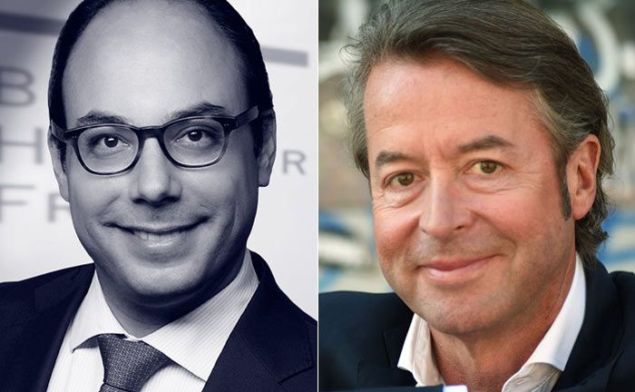 Beide sind Rechtsanwalt und Partner der Kanzlei Buse Heberer Fromm: Florian Brem (l.) und Peter Fissenewert|© Peter Badge