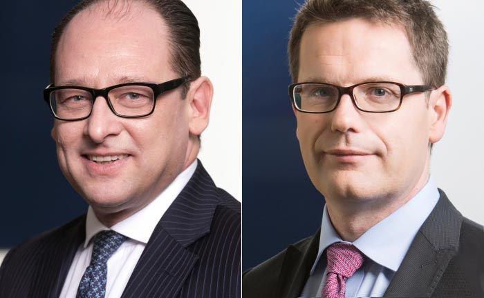 Neuzugang Vertriebschef Sascha Steinmeier (l.) und Portfoliomanager Léon Kirch