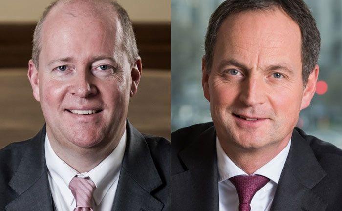 Vorstand Udo Kröger (l.) verlässt Merck Finck Privatbankiers. Vorstandsvorsitzender Matthias Schellenberg übernimmt seine Aufgaben