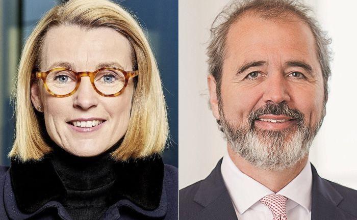 Sitzen künftig im Vorstand des Bankenverbandes: Dorothee Blessing (l.) und Wolfgang Kuhn