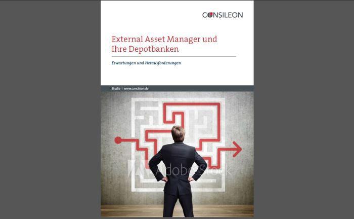 """Screenshot der Consileon-Studie  """"External Asset Manager und ihre Depotbanken – Erwartungen und Herausforderungen"""""""