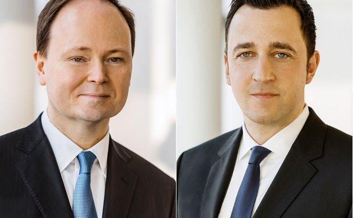 Verfügen über langjährige Erfahrung im Management von Convertible-Bond-Strategien: Marc-Alexander Knieß (l.) und Stefan Schauer