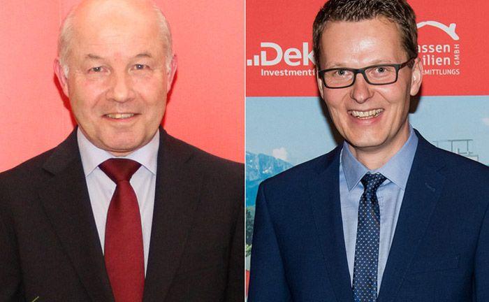 Verantwortlich für Privatkunden und Private Banking: Thorsten Straubinger (r.) folgt im Vorstand der Sparkasse Bad Tölz-Wolfratshausen auf Reinhard Bredtmann, der in den Ruhestand geht