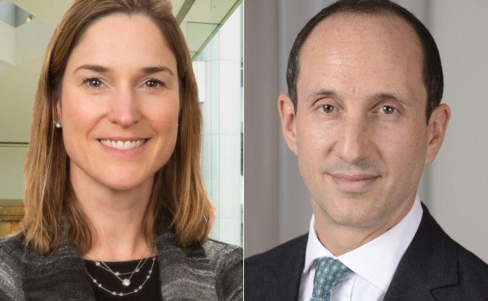 Portfoliomanagerin Christine Todd (l.) und Matt Oomen, Leiter internationaler Vertrieb bei BNY Mellon IM.