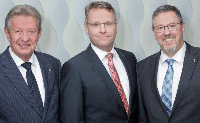 Der Vorstand der Bensberger Bank (v.l.n.r.): Helmut Krause, Jürgen Füllenbach und Olaf Schmiedt