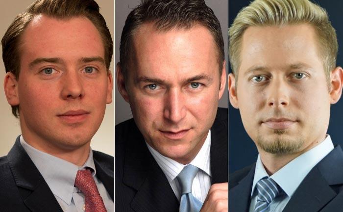 Dir drei Neuzugänge bei DJE Kapital (v.l.n.r.): Dominik Schubert, Josef Altmann und Marc Zöllner