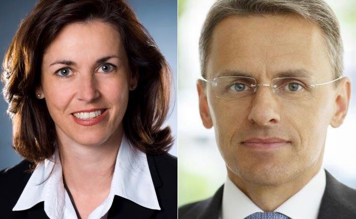 Die scheidende Martina Schliemann und ihr Nachfolger Markus Taubert