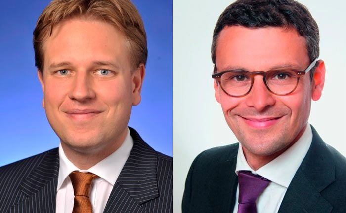 Zu- und Abgang im Asset Management der Berenberg Bank: Matthias Born (l.) und Mathieu Gilbert