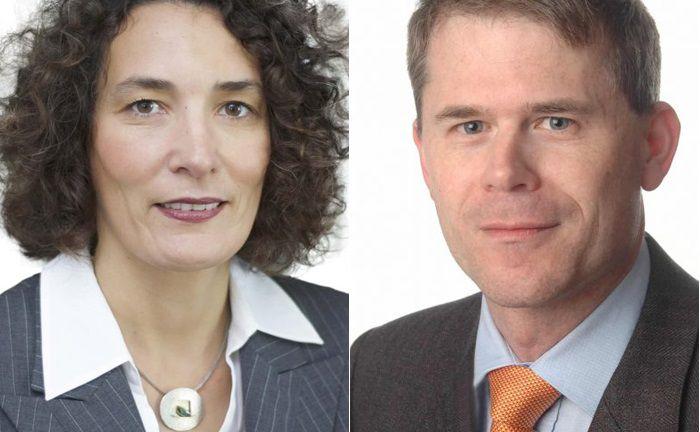 Sind ab sofort Mitglieder der Geschäftsführung der Deutschen Wertpapiertreuhand: Silvia van Leeuwen (l.) und Martin Zeitler