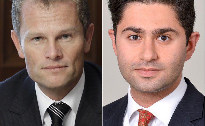 Walter Ernst, Vorstandsvorsitzender der St. Galler Kantonalbank Deutschland (l.), und Nirwan Tajik, Senior-Berater der Beratungsboutique Zeb