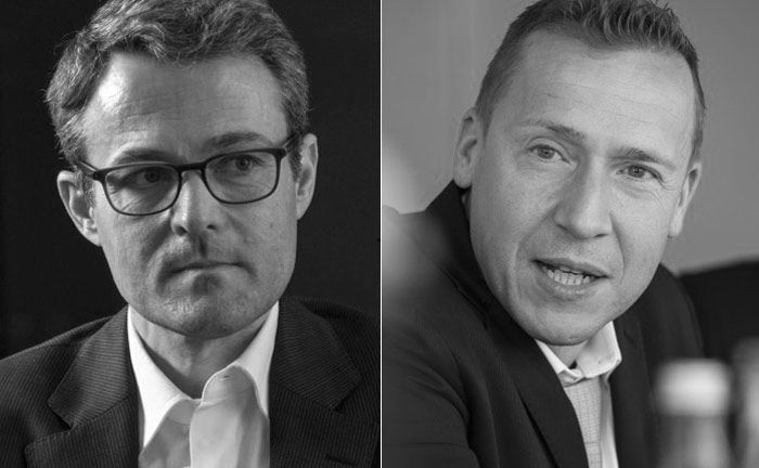 Alexander Raviol, Lupus Alpha (l.), und Martin Hellmich, Professor an der Frankfurt School of Finance & Management|© Markus Kirchgessner, Martin Kämper