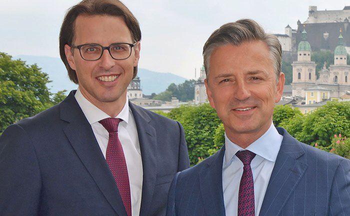 Generationswechsel beim Bankhaus Spängler: Vorstand Nils Kottke (l.) und Vorstandssprecher Werner Zenz