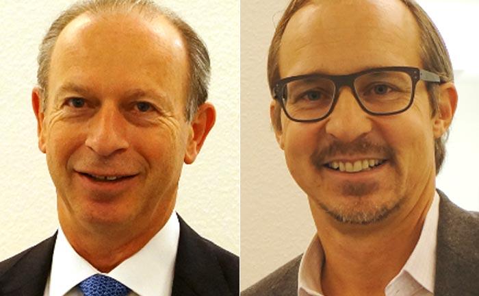 Belvoire-Capital-Verwaltungsratspräsident sowie COO Alexandre Weintraub (l.) und Gründer sowie Vorstand Steffen Bauke