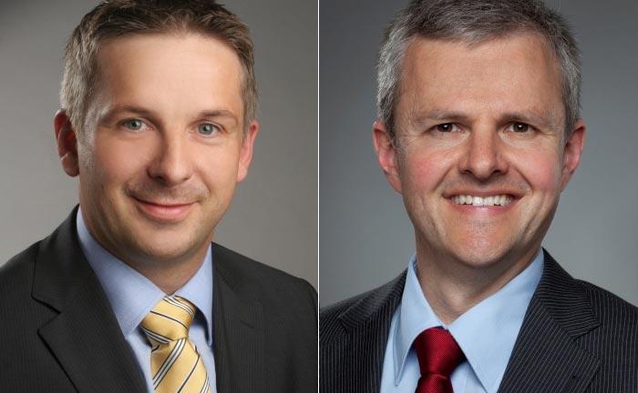 P&S-Vorstand Matthias Bohn (l.) und Neuzugang Matthias Pfaffenberger