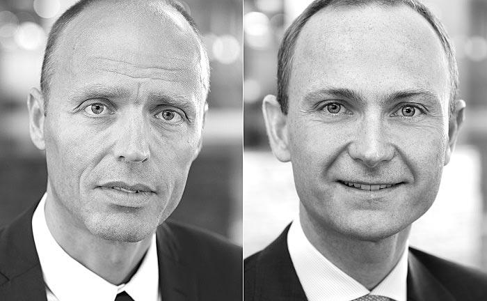 Sandro Näf (l.) ist Partner und Gründungsmitglied von Capital Four Management, Mikkel Sckerl ist Partner sowie Portfoliomanager und verantwortlich für das Geschäft mit Leveraged Loans.