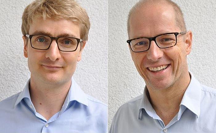 Die Gründer und Geschäftsführer von Finabro Sören Obling (l.) und Oliver Lintner