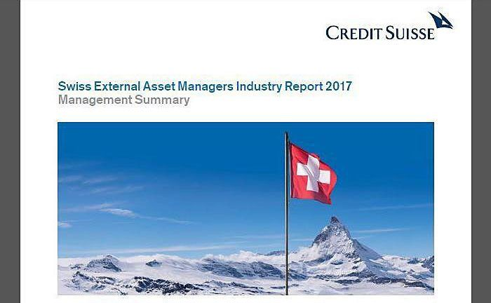 "Screenshot der Credit-Suisse-Studie ""Swiss EAM Industry Report 2017"""
