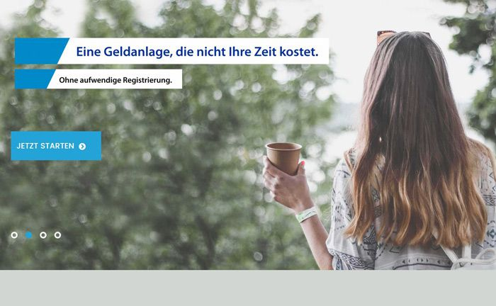 Screenshot der Website der Online-Vermögensverwaltung Baloise Monviso