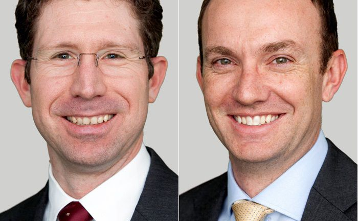 Managen den jüngsten Anleihefonds von Investec Asset Management: Garland Hansmann (l.) und Jeff Boswell