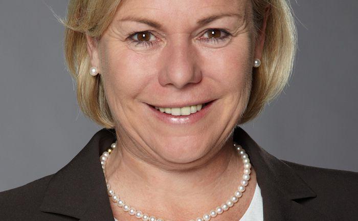 Verantwortet als Geschäftsführerin unter anderem die strategische Weiterentwicklung von Amundi in Deutschland: Evi Vogl