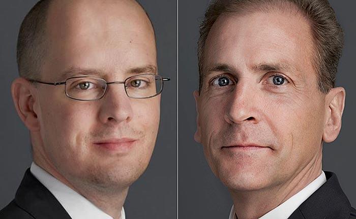 Der neue Finanzchef Marc Sahli (l.) und Swisspartners-Chef Markus Wintsch
