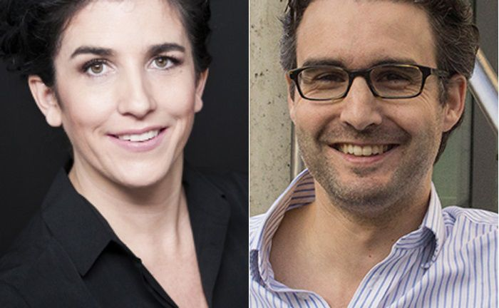 Salome Preiswerk (l.) gründete den digitalen Vermögensverwalter Whitebox,  Oliver Vins ist Mitgründer des Start-ups Vaamo