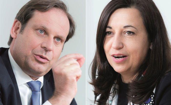 Leiten seit August 2016 gemeinsam das deutsche Wealth-Management-Geschäft der Deutschen Bank: Daniel Kalczynski und Anke Sahlén