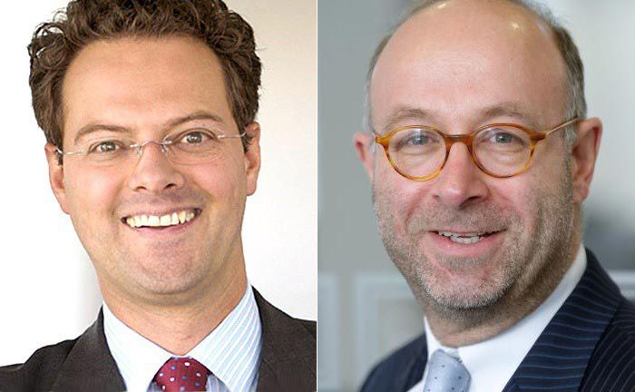 Der neue Geschäftsleiter Christian Maria Kreuser (l.) und Florian Weber, Geschäftsführender Direktor und Hauptaktionär der Bank.