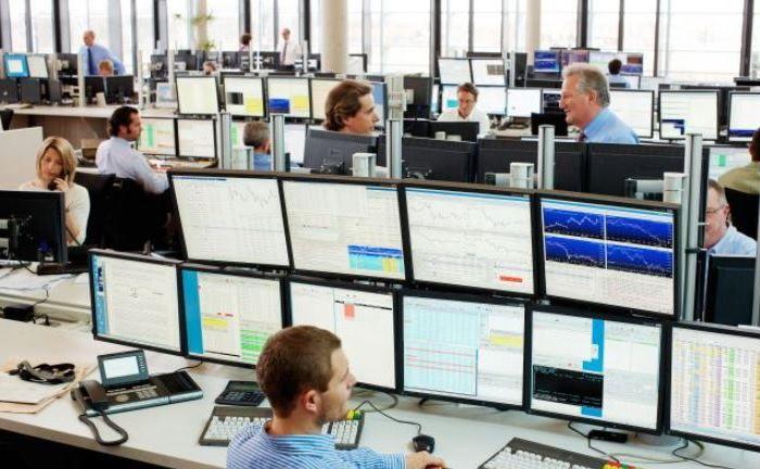 Handelssaal der Baader Bank in München