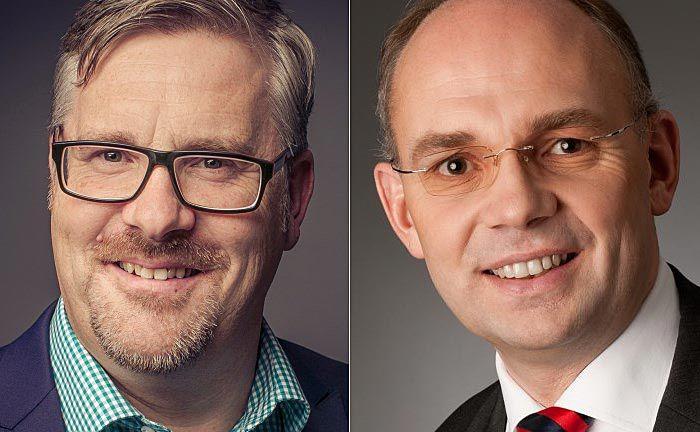 Volker Henkel, Leiter der Frankfurter Niederlassung und  Axel Rohr, Vorstand von Reuss Private Deutschland.