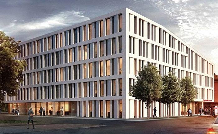 Die Hauptstelle der Sparkasse Allgäu in Kempten