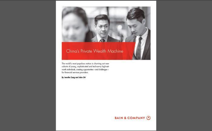 """Der """"China Private Wealth Report"""" der Managementberatung Bain & Company: Die Studie bescheinigt China einen enormen Zuwachs an Hochvermögenden."""