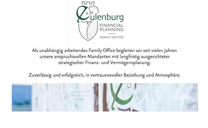 Eulenburg Financial Planning: Das Hamburger Multi Family Office sucht derzeit zwei Mitarbeiter.|© Eulenburg Financial Planning