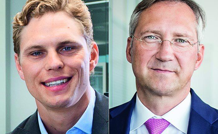 Scalable-Gründer Erik Podzuweit (l.) und Bert Flossbach von Flossbach von Storch: Beide waren in der Vergangenheit bei Goldman Sachs, vertreten jedoch in puncto ETFs komplett unterschiedliche Sichtweisen.