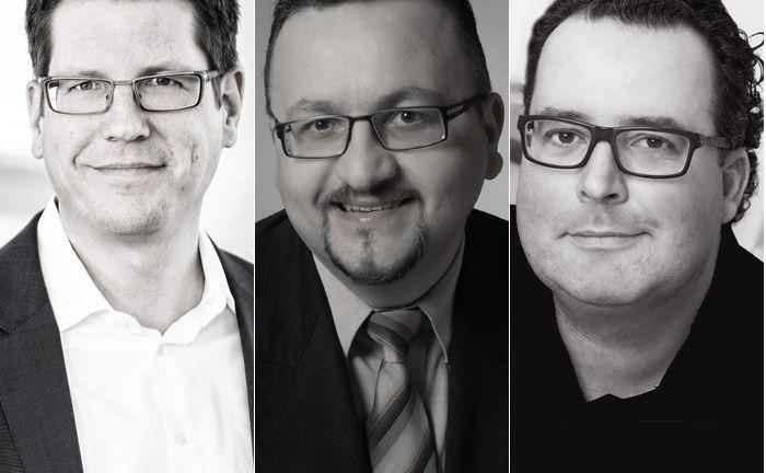 Die drei Geschäftsführer von Torendo Capital Solutions (v.l.): Marc Pasdaq, Roman Kurevic und Thomas Schnierle.