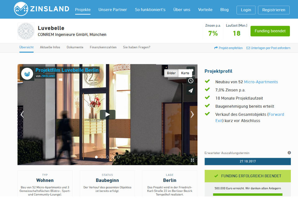 Immobilien-Crowdinvesting: Schwarmfinanzierer Zinsland in Nöten: Projektentwickler stellt Insolvenzantrag